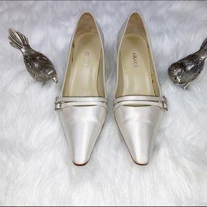 Grace Ivory Silk Wedding Heals Size 5.5